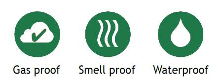 gasdicht reukvrij waterdicht
